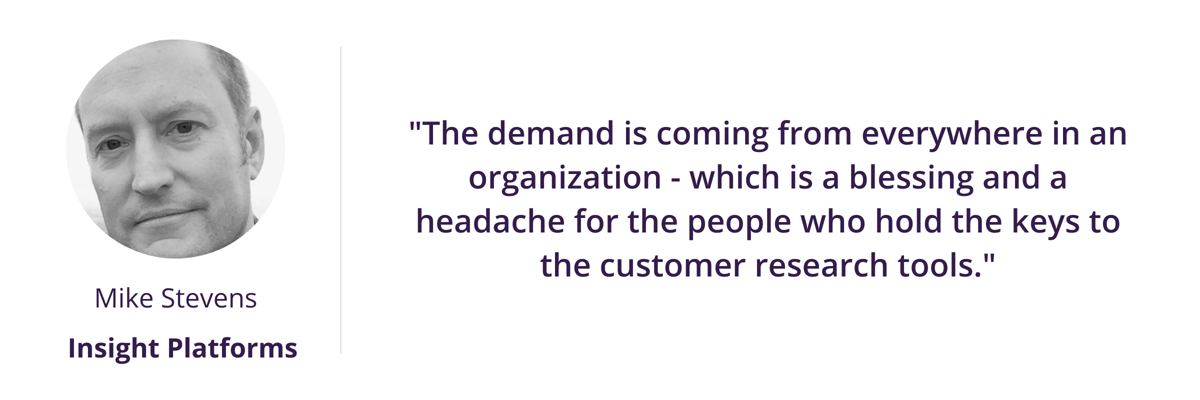 """""""The demand is coming from everywhere in an organization - which is a blessing and a headache for the people who hold the keys to the customer research tools."""""""