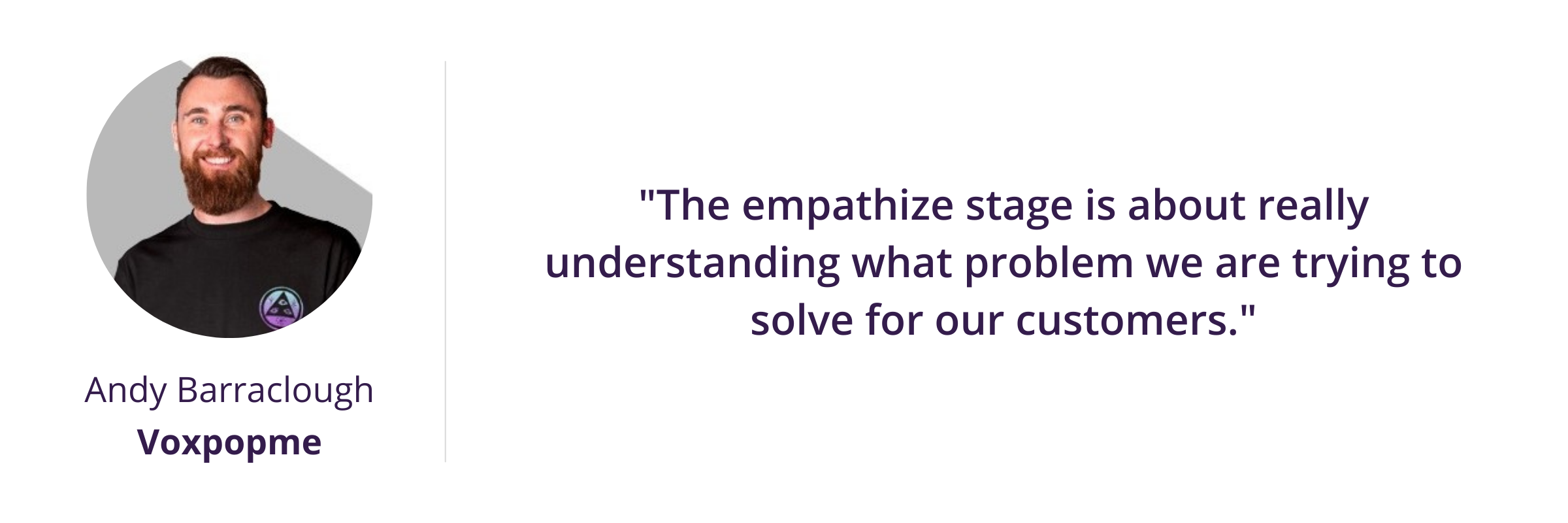 """""""The empathize stage is about really understanding what problem we are trying to solve for our customers."""""""